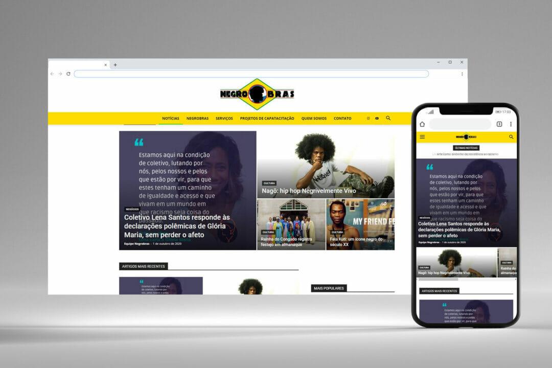 Negrobras - Website e Logo