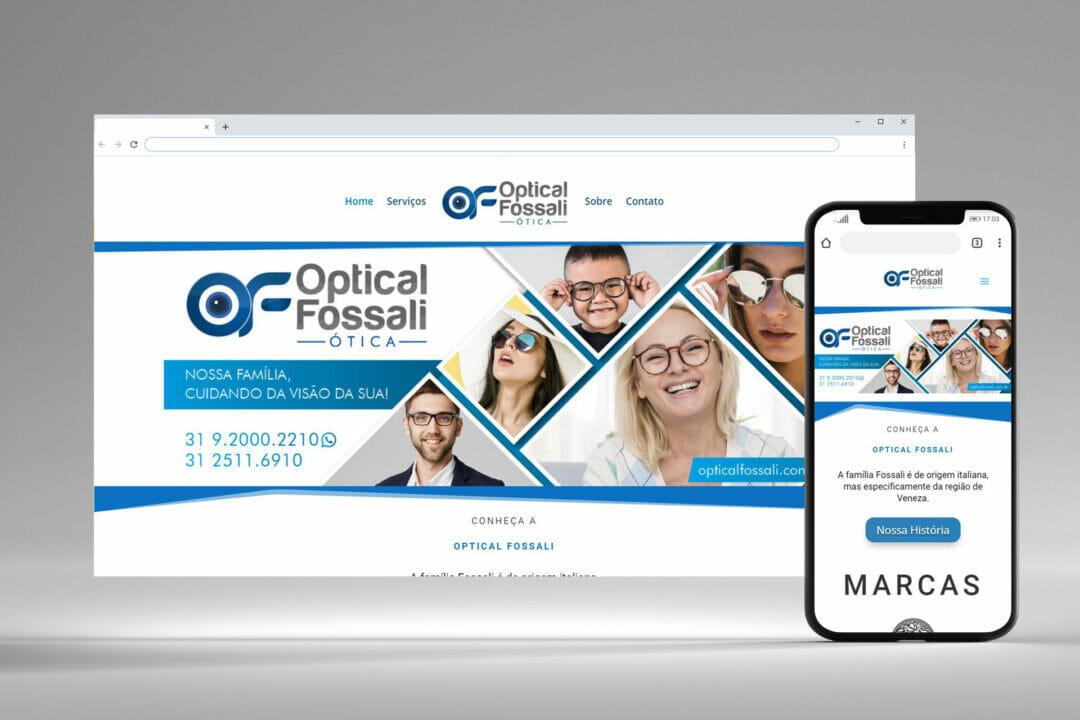 Optical Fossali - Website e Logo