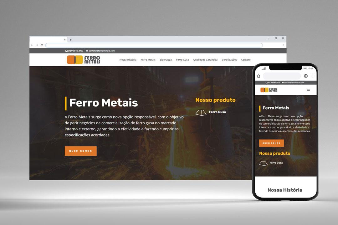Ferro Metais - Website e Logo